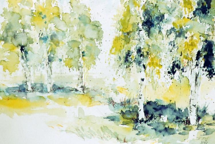 Sommerfrische - Aquarell © Katharina Hansen-Gluschitz