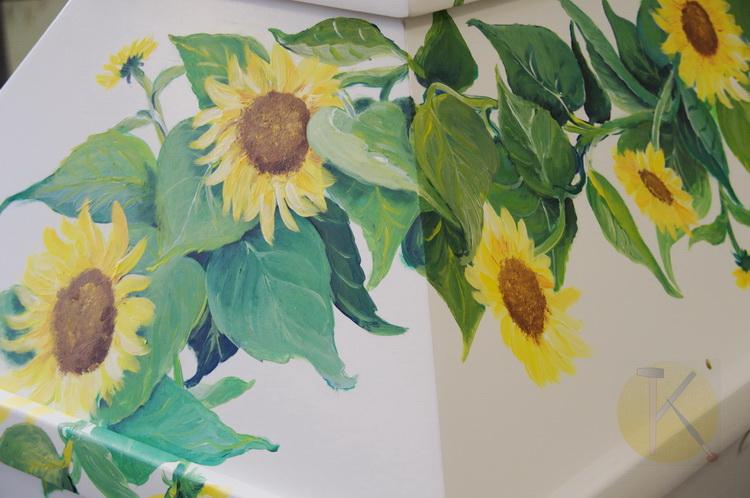 Sonnenblumensarg - Auftragsarbeit © Katharina Hansen-Gluschitz