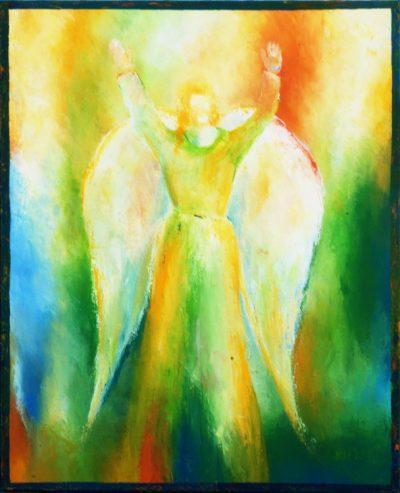 Engel der Freiheit - Acryl auf Leinwand © Katharina Hansen-Gluschitz