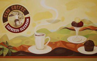Coffee-Shop - Wandmalerei - Detail © Katharina Hansen-Gluschitz