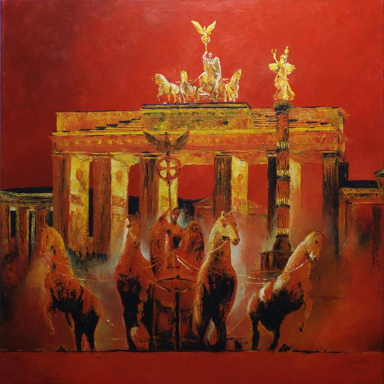 Wieder vereintes Berlin - Deutsche Stadtansichten - Acryl auf Leinwand © Katharina Hansen-Gluschitz