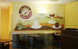 Coffee-Shop - Wandmalerei © Katharina Hansen-Gluschitz
