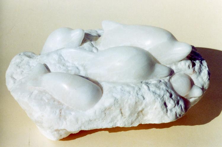 Delfinfreuden I - Alabaster © Katharina Hansen-Gluschitz