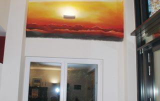 Wohnzimmer - Wandmalerei - Detail © Katharina Hansen-Gluschitz