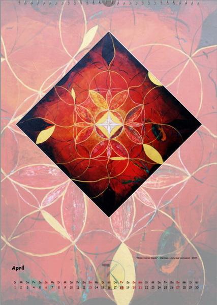 Mandala zur Blüte meiner Seele - Engelkalender © Katharina Hansen-Gluschitz