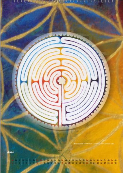 Das Labyrinth von Chartres - Engelkalender © Katharina Hansen-Gluschitz