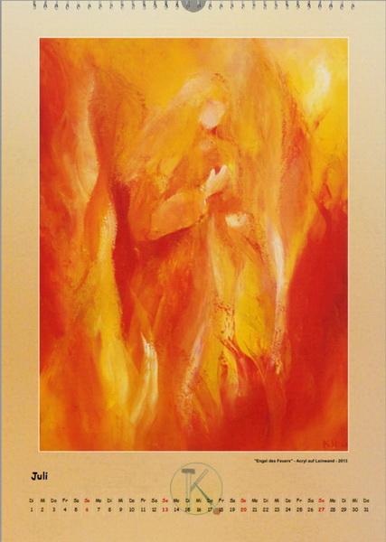 Der Engel des Feuers - Engelkalender © Katharina Hansen-Gluschitz