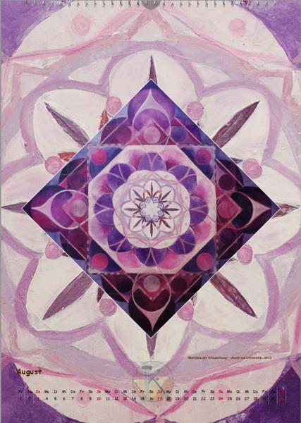 Mandala der Erleuchtung - Engelkalender © Katharina Hansen-Gluschitz