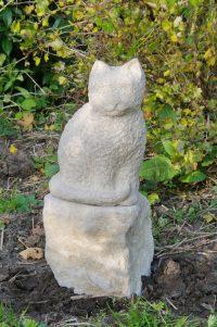 Katze - Sandstein © Katharina Hansen-Gluschitz