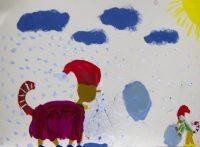 Acryl auf Papier - Schülerarbeit - Foto: © Katharina Hansen-Gluschitz