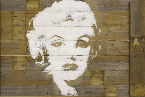Marylin Monroe - Acryl auf Holz - Schülerarbeit - Foto: © Katharina Hansen-Gluschitz