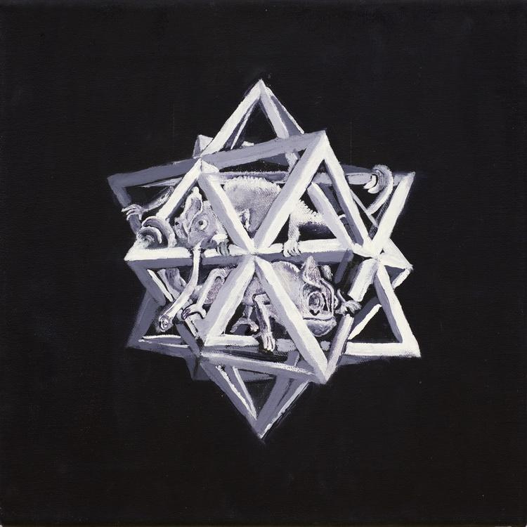 nach M C Escher - Acryl auf Leinwand - Schülerarbeit - Foto: © Katharina Hansen-Gluschitz