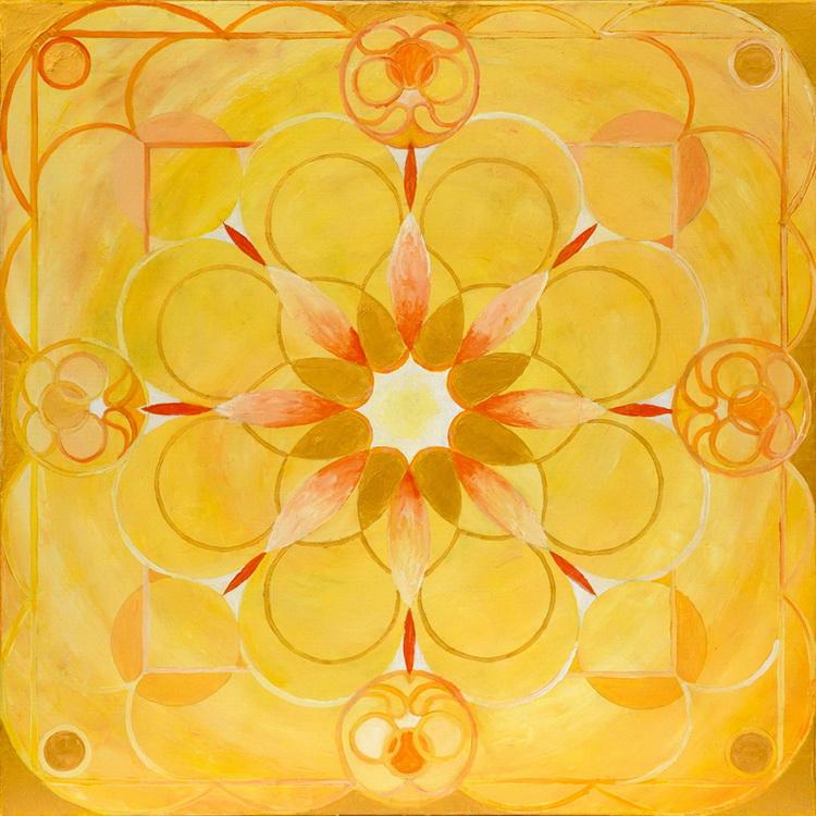 Mandala des Lichtes - Acryl auf Leinwand © Katharina Hansen-Gluschitz