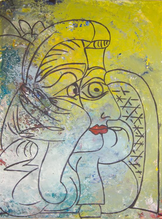 nach Picasso - Acryl auf Papier - Schülerarbeit - Foto: © Katharina Hansen-Gluschitz