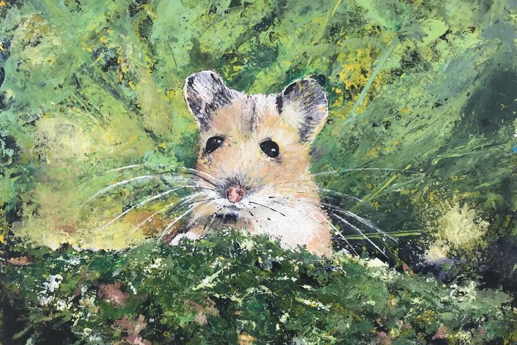 Kleines Mäuslein - Acryl auf Papier © Katharina Hansen-Gluschitz