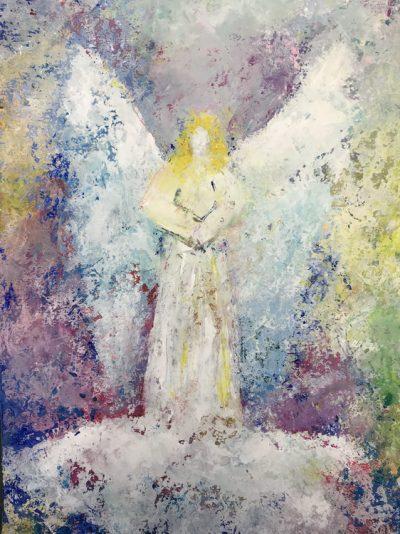 Engel der Barmherzigkeit - Acryl auf Papier © Katharina Hansen-Gluschitz