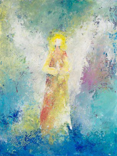 Engel der Aufrichtigkeit - Acryl auf Papier © Katharina Hansen-Gluschitz