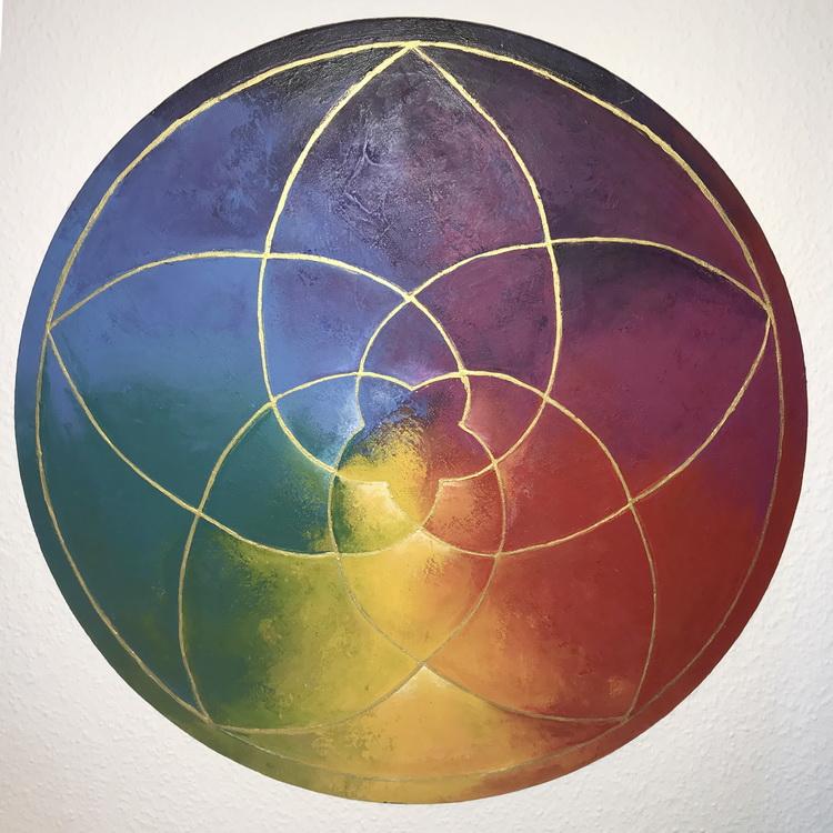 Venusblume - Kosmogramm - Acryl auf Leinwand © Katharina Hansen-Gluschitz