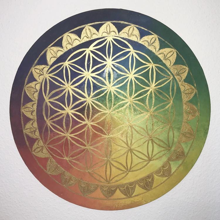 Blume des Lebens - Kosmogramm - Acryl auf Leinwand © Katharina Hansen-Gluschitz