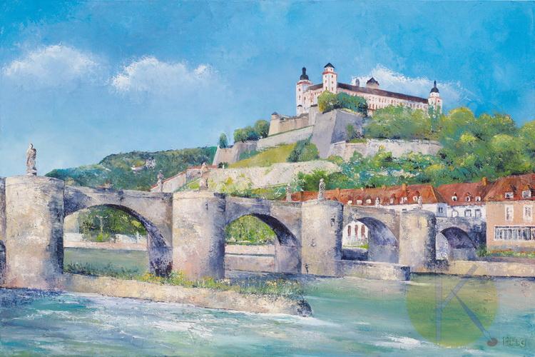 Die Marienburg - Würzburg - Acryl auf Leinwand © Katharina Hansen-Gluschitz