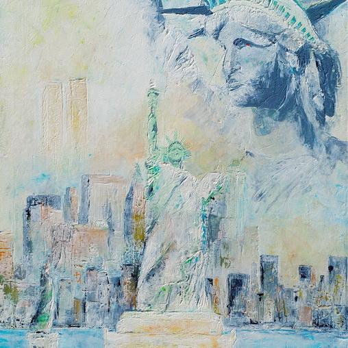 Freiheit für New York - Acryl auf Leinwand © Katharina Hansen-Gluschitz