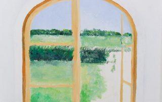 Fensterbild als Wandmalerei - Vorbereitung © Katharina Hansen-Gluschitz