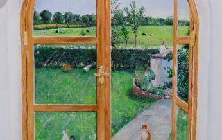 Fensterbild als Wandmalerei © Katharina Hansen-Gluschitz