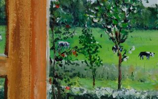 Fensterbild als Wandmalerei - Detail © Katharina Hansen-Gluschitz
