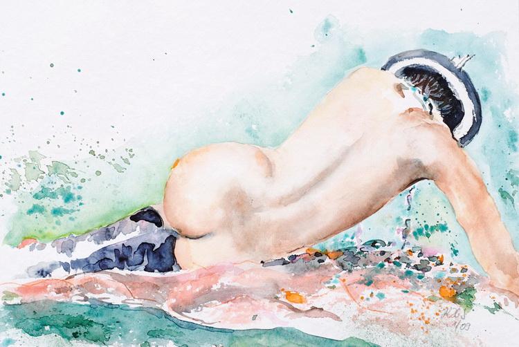Ein schöner Rücken - Aquarell © Katharina Hansen-Gluschitz