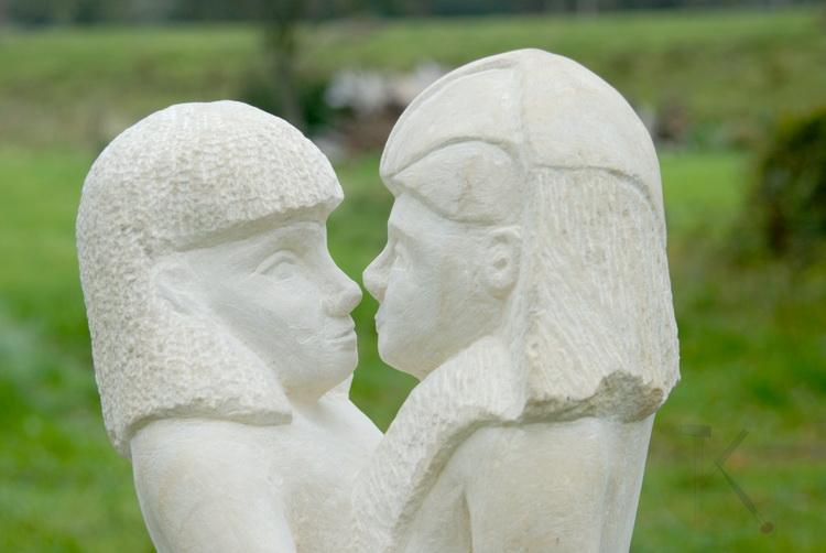 Maat Ka Re - Skulptur - Sandstein © Katharina Hansen-Gluschitz