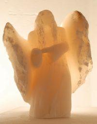 Der Engel des Gebens - Alabaster © Katharina Hansen-Gluschitz
