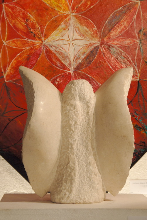 Blüte meiner Seele - Engel - Kalkstein © Katharina Hansen-Gluschitz