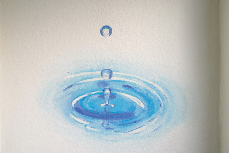 Wassertropfen - Wandmalerei © Katharina Hansen-Gluschitz