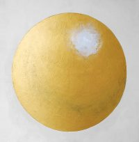 Goldene Kugel - Acryl auf Leinwand - Massagesalon © Katharina Hansen-Gluschitz