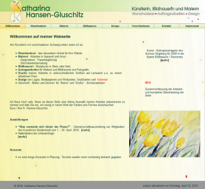 Logo + alte eigene Webseite - © Katharina Hansen-Gluschitz