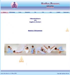 Alte Webseite Hatha-Power-Yoga - © Katharina Hansen-Gluschitz