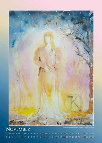 Der Engel der Abenddämmerung - Engelkalender © Katharina Hansen-Gluschitz