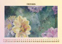 Dahlien - Blumen in Acryl - Kalender © Katharina Hansen-Gluschitz