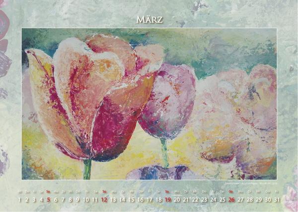Tulpen - Blumen in Acryl - Kalender © Katharina Hansen-Gluschitz