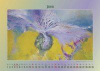 Kornblume - Blumen in Acryl - Kalender © Katharina Hansen-Gluschitz
