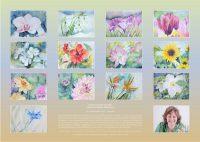 Dein Blumenjahr 2017 - Bilder in Aquarell - Kalender © Katharina Hansen-Gluschitz