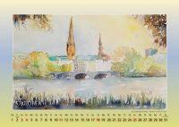 Kennedybrücke im Herbst - Mein Hamburg - Kalender © Katharina Hansen-Gluschitz