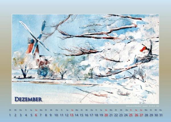 Reitbrook im Winterkleid - Mein Hamburg - Kalender © Katharina Hansen-Gluschitz