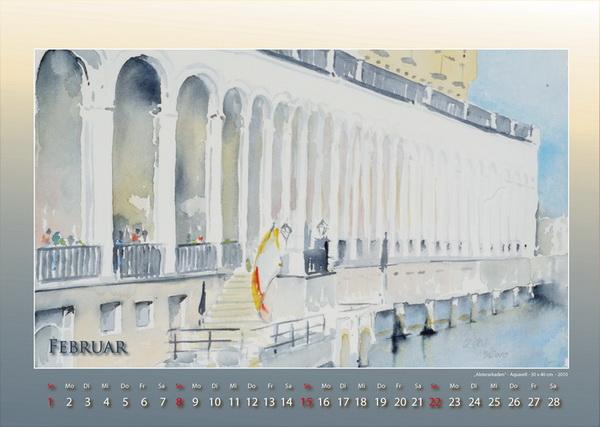 Alsterarkaden - Mein Hamburg - Kalender © Katharina Hansen-Gluschitz