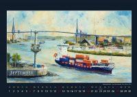 Der Köhlbrand - Hamburger Hafen - Kalender © Katharina Hansen-Gluschitz
