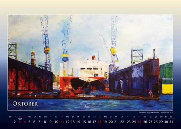 Sea-Venus - Hamburger Hafen - Kalender © Katharina Hansen-Gluschitz