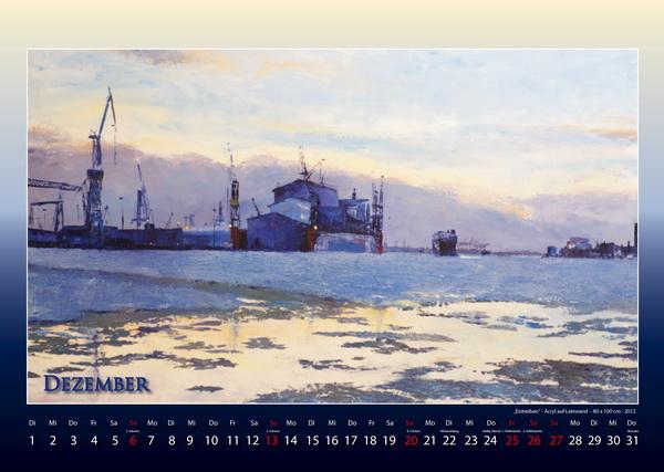 Eistreiben - Hamburger Hafen - Kalender © Katharina Hansen-Gluschitz