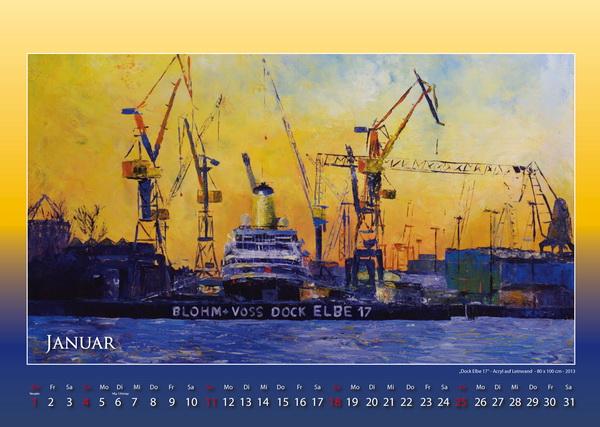 Elbedock 17 - Hamburger Hafen - Kalender © Katharina Hansen-Gluschitz