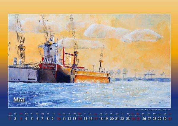 Dockansicht - Hamburger Hafen - Kalender © Katharina Hansen-Gluschitz