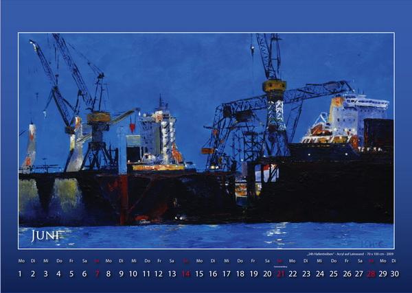 24h Hafentreiben - Hamburger Hafen - Kalender © Katharina Hansen-Gluschitz